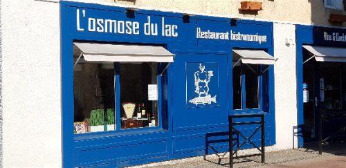 Idée Cadeau Restaurant l'Osmose du lac Annecy Menthon Saint Bernard : extérieur 2