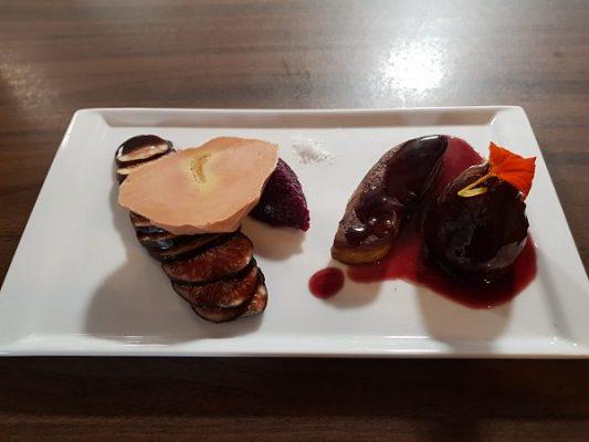 Idée Cadeau Restaurant l'Osmose du lac Annecy Menthon Saint Bernard : figue foie gras