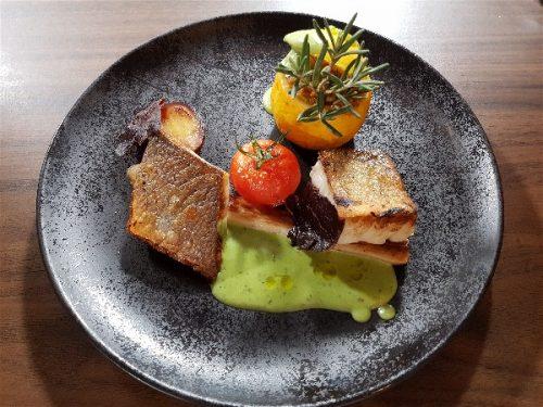 Idée Cadeau Restaurant l'Osmose du lac Annecy Menthon Saint Bernard : plat
