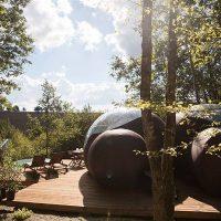 Idée Cadeau Chrysalide St-Martin à Nérac : Dormir sous les Bulles arbres 2