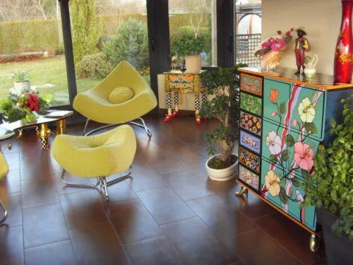 Idée Cadeau chambre d'hôtes Miraflorés à Malestroit : le salon