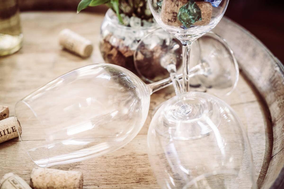 Idée Cadeau le secret des papilles à Saumur - cours oenologie verres vides