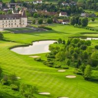 Idée Cadeau Hôtel Golf Château de Chailly Vue aérienne
