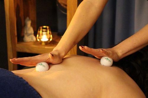 Idée Cadeau Hôtel Golf Château de Chailly massage au balle de golf
