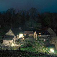 Idée Cadeau Moulin de Chassaing Condat-sur-Ganaveix vue de nuit