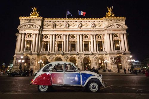 Idée Cadeau Paris Authentic - balade de nuit en 2cv