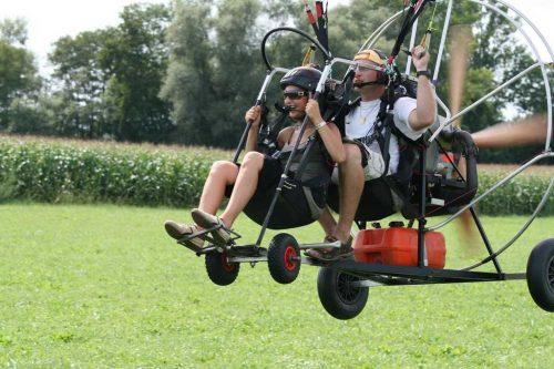 Idée Cadeau Ecole Alsace Paramoteur Elsenheim - atterrissage