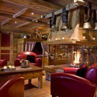 Idée Cadeau Hotel les Grands Montets Chamonix - Salon avec cheminée