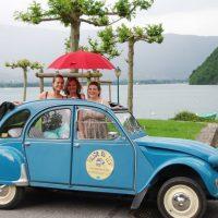 Idée Cadeau Les Deuches du Lac Annecy Chapeiry - 2cv au bord du lac