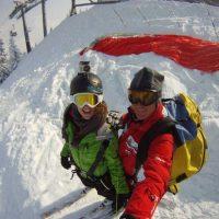 Idée Cadeau Aeroslide Dingy-Saint-Clair - parapente hiver decollage