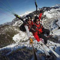 Idée Cadeau Aeroslide Dingy-Saint-Clair - parapente hiver en vol