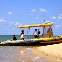 Idée Cadeau Bat Express Cap Ferret - Seul au monde au banc d'Arguin en bateau semi-rigide Bat'express